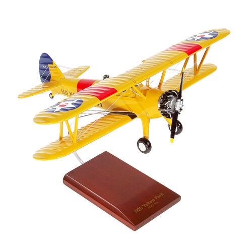 US Navy Boeing Stearman N2S-2//3//4 Yellow Peril Desk Top 1//24 Model ES Airplane