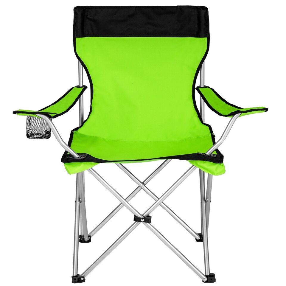 Campingstol enkelt grøn