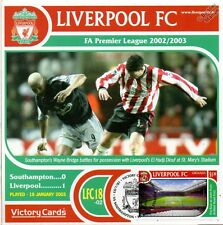 Liverpool 2002-03 Southampton (El Hadji Diouf) Football Stamp Victory Card #218