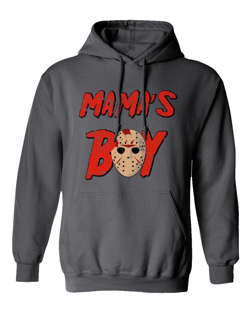 d31c699a1 Friday 13th Horror Scary Jason Vorhees Men's Hooded Sweatshirt Shirt ...