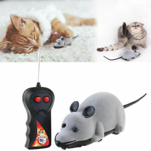 Wireless Remote Control RC Electronic Rat Mouse Mice Toy For Cat Puppy Gift