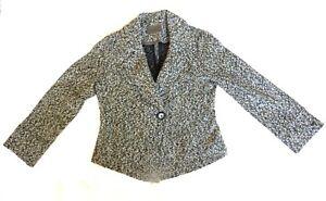 Grå Skræddersyet Med Viyella Beige Smart Cardigan Brun 14 Tweed Boulce 12 Jakke XpEUpq