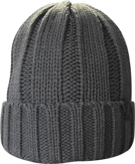 47bf79cadfe71 Original Penguin Mens Boho Ribbed Knit Beanie Hat Steel Grey One ...