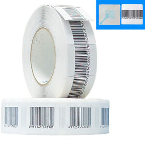 Soft Tag 3x3cm Plain White 2,000 Checkpoint®  System Compatible 8.2 RF Label