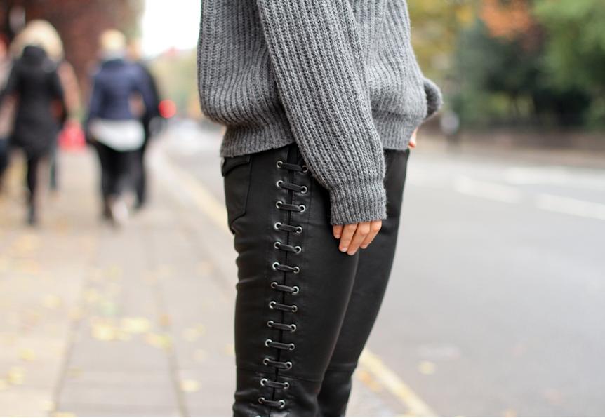 ISABEL MARANT H&M Encaje De Cuero Negro Recortada  FOR pantalones talla EU 38 EE. UU. 8 Reino Unido 12  Compra calidad 100% autentica