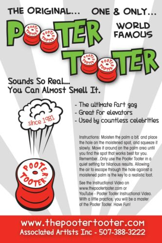 The Original  Pooter Tooter 2 PACK for $21.00 Ultimate Fart Gag
