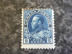 CANADA-POSTAGE-STAMP-SG205B-FIVE-CENTS-DEEP-BLUE-LIGHTLY-MOUNTED-MINT