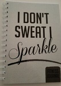 fitness journal workout tracker gym diary a5 size i don t sweat i
