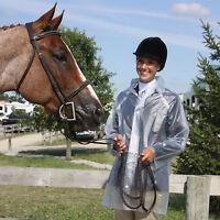 Horse Riding Clear Transparent Plastic Rain Show Coat Adult Small