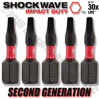 "Bulk 48-32-4735 2-Pack NEW Milwaukee SHOCKWAVE IMPACT Torx T20 1/"" Insert Bits"
