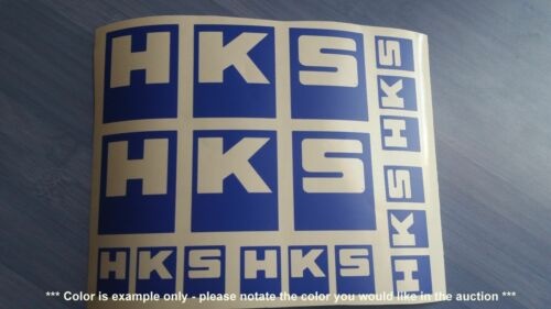 Decals assorted multiple colors Stickers 6 total HKS Emblems
