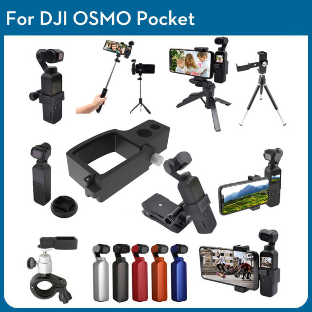 Expansion 1//4 Screw Adapter Bracket+Clip For DJI OSMO POCKET Gimbal Accessories