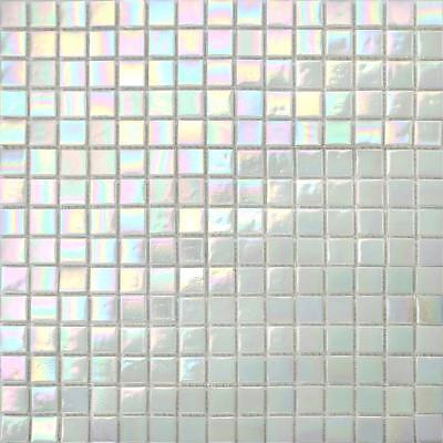 Iridescent White Vitreous Gl Mosaic