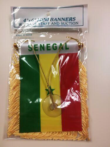 SENEGAL MINI BANNER FLAG GREAT FOR CAR /& HOME WINDOW MIRROR HANGING
