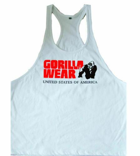 Gorilla wear sleeveless tank top men Fitness muscle Bodybuilding workout vest