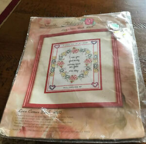 Sandi Phipps Counted Cross Stitch Love Comes Back New