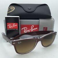 Ray-ban Sunglasses Wayfarer Rb 2132 6145/85 55-18 Brushed Brown W/ Brown