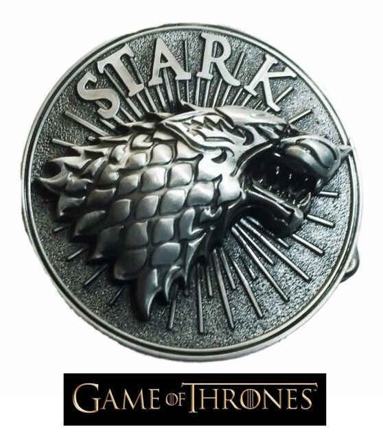 Game of thrones Stark Wolf Belt Buckle Antique silver color cosplay US Seller