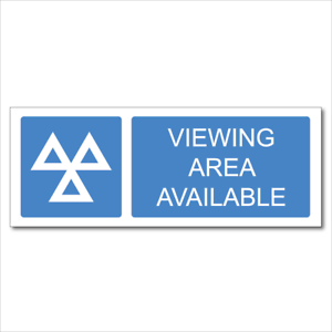VEHICLE TESTING600x230mm MOT SIGNSVIEWING AREA AVAILABLE HEAVY DUTY