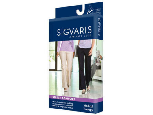 Sigvaris 860 Select Comfort Series 20-30 Women/'s Knee High Stocking Closed Toe