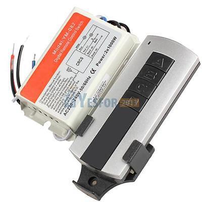 2 Channel Wireless Digital Remote Control Switch Lightswitch Power Switch #3YE