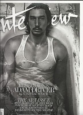 Interview magazine Adam Driver The art issue Ryan McGinley Tom Burr Banks