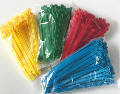 8x400mm Coloured Releasable Reusable Self-Locking Nylon Cable Ties Tidy 5x200mm