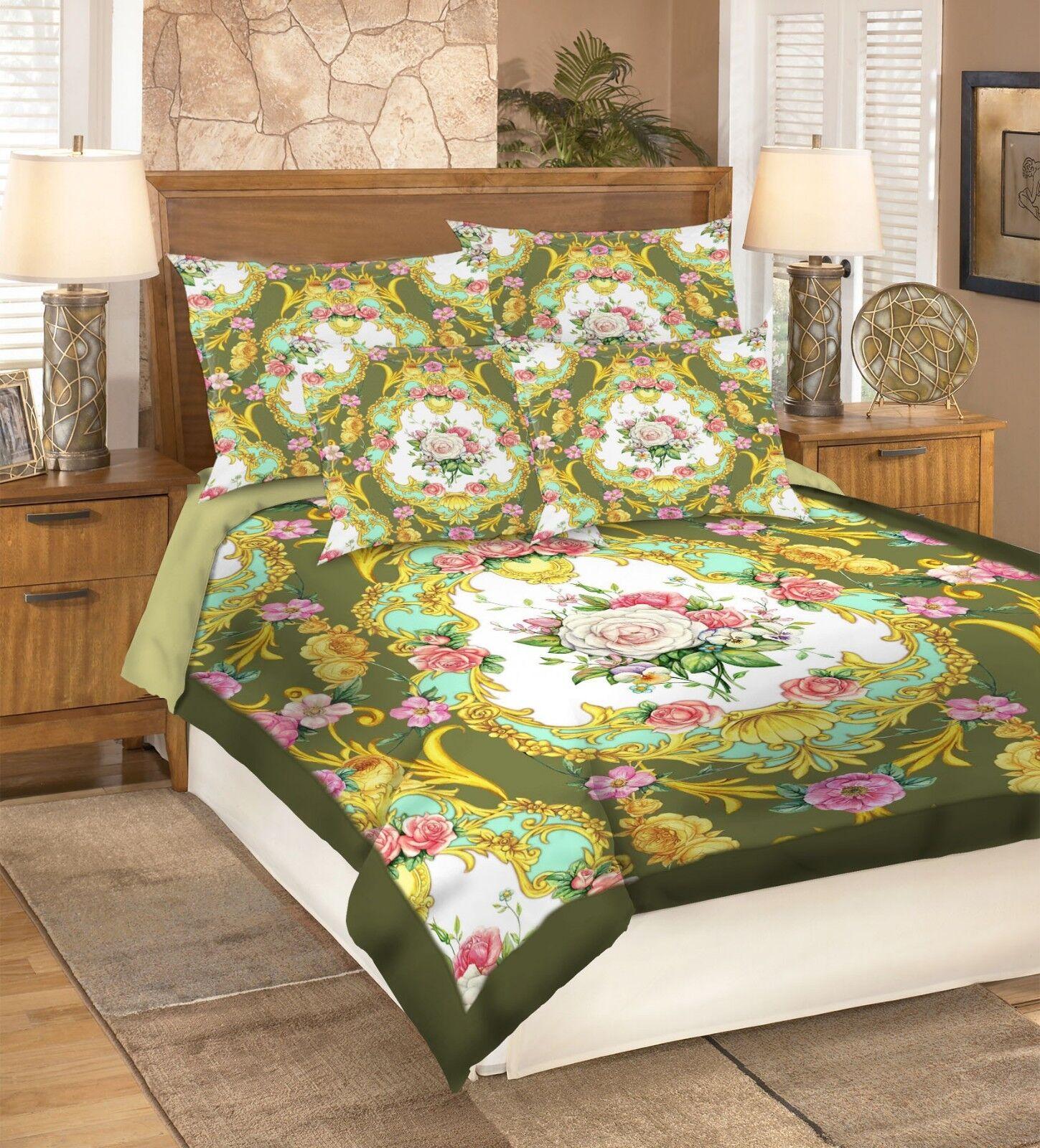 Color Flower 578 Bed Pillowcases Quilt Duvet Cover Set Single King Uk Summer