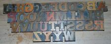 Lot Of 36 Old Letterpress Printers Wood Type 1 58 Tall Upper Case
