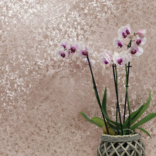 Arthouse Velvet Crush Foil Metallic Sparkle Wallpaper Rose Gold 294300