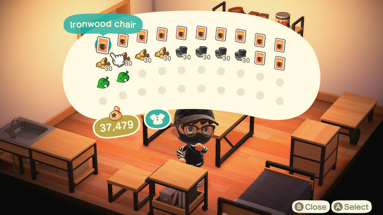 Animal Crossing: New Horizons Ironwood Furniture DIY ... on Ironwood Furniture Animal Crossing  id=78008