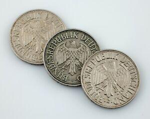 Plein-De-3-1950-Allemagne-1-Mark-Pieces-En-XF-Etat-Km