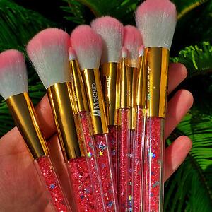10pcs glitter handle makeup brush set new cute set best