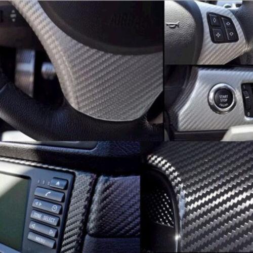 "20/"" x 60/"" Black 4D Carbon Fiber Vinyl Decal Sheet Film Car Auto Air Release"
