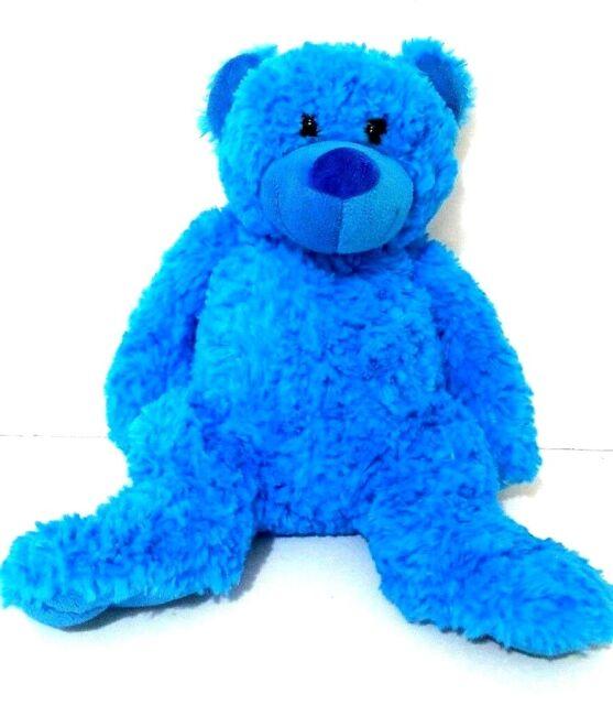 Teddy & Friends Blue Teddy Bear Soft Plush Stuffed Animal Doll Toy For Baby Kid