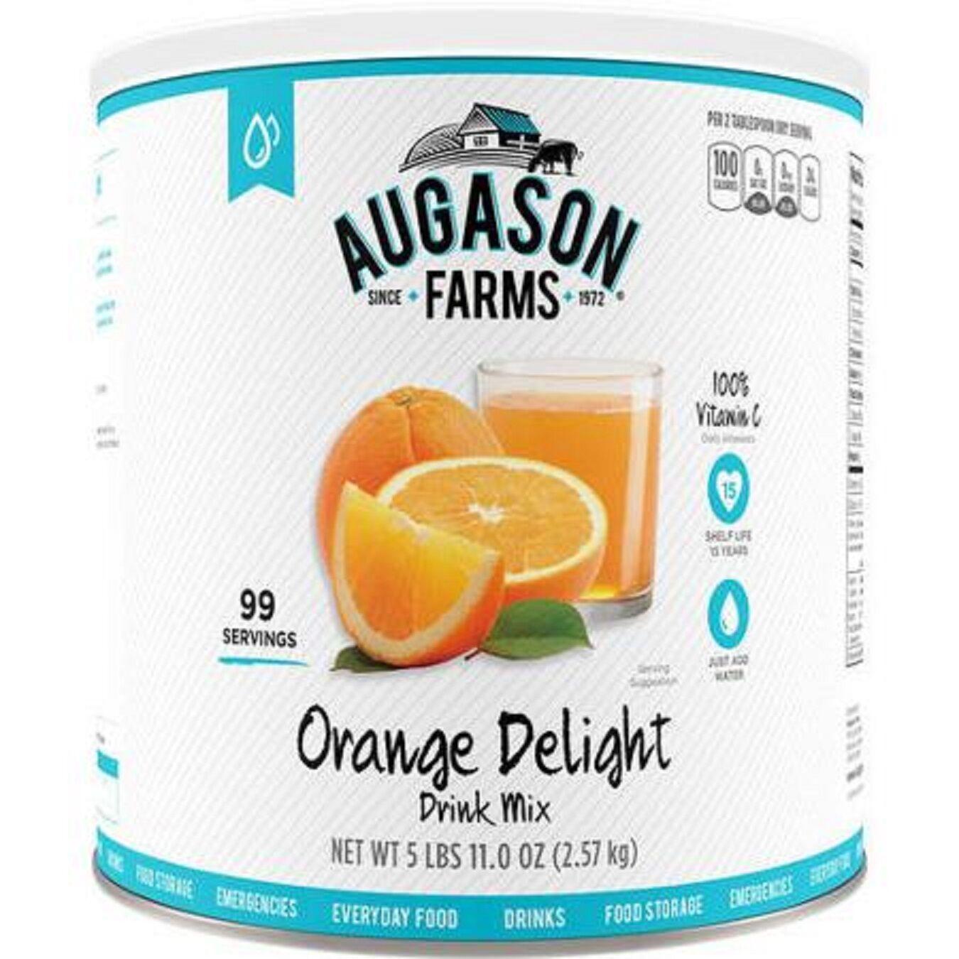 Augason Farms orange Delight Juice Drink Mix Emergency Survival Camping RV Food
