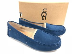 f8dd31fc2b9 Image is loading UGG-Australia-Milana-Water-Resistant-Suede-Loafers-Dark-