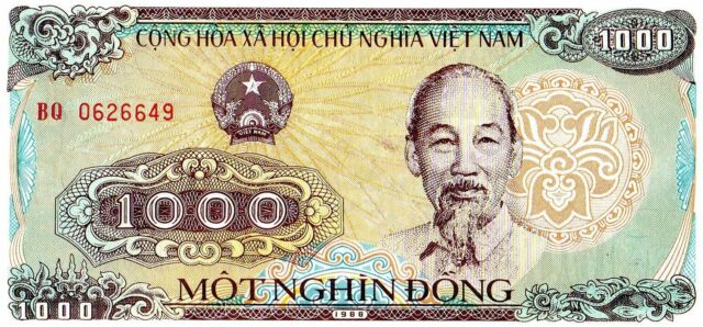 100 x VIETNAM 1000 Dong P-106 UNC World Currency Banknote bundle 1988