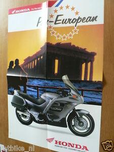 HAP-308 HONDA PAN-EUROPEAN POSTER BROCHURE ALL 1990 MODELS DUTCH 8 PAGES,AFRICA