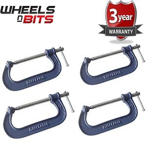 4x-Heavy-Duty-G-Clamp-6-Inch-150mm-G-Clamps-with-Copper-Screw-with-Swivel-Pad