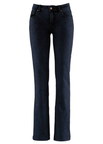 M2468-904883 Gr 36 Schöne Marmoriert gefärbte Stretch Jeans in Dark Denim