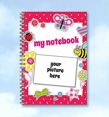 Personalised Printed A6 Notebook upload YOUR own Photo and ANY WORDS LADYBIRD
