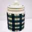 Hartstone-Buffalo-Check-Green-Plaid-Canister-Cookie-Jar-Container-Farmhouse-5-lb thumbnail 2