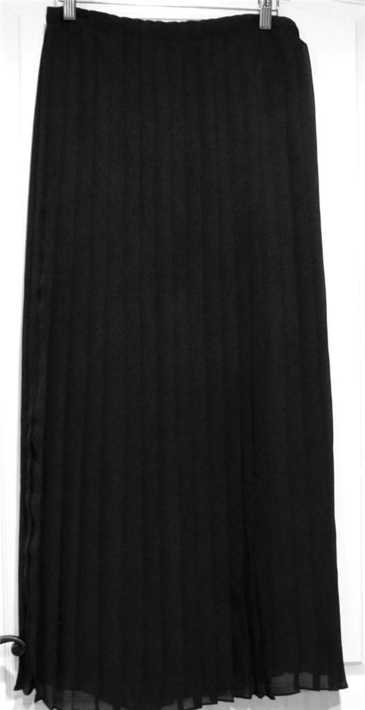 Neuf avec étiquettes Coldwater Creek Longue Mousseline Doublé Full plissé Maxi jupe taille XS (4-6)