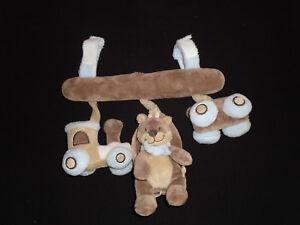 Nattou Spirale Zug Braun Spielspirale Kindersitz Trapez Mobile 089 Top Zustand Knitterfestigkeit Baby