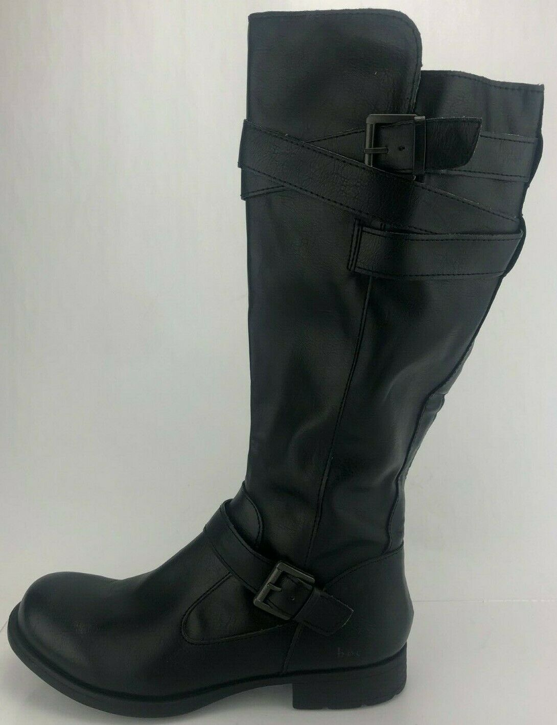 Born BOC Riding Boots Zip Buckle Black Knee High Leather Boots Womens US 9.5 M