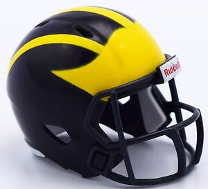 MICHIGAN-WOLVERINES-NCAA-Riddell-SPEED-POCKET-PRO-Mini-Football-Helmet