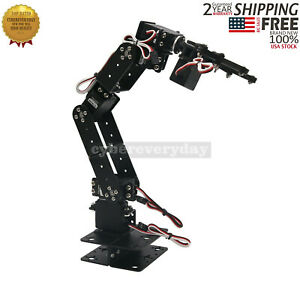 Aluminium Robot 6 DOF Arm Mechanical Robotic Arm Clamp Claw Mount Kit f// Arduino