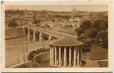 1934 Roma Tempio Vesta Veduta Tevere Ferrovia Mostra Riv Fascista FP B/N VG