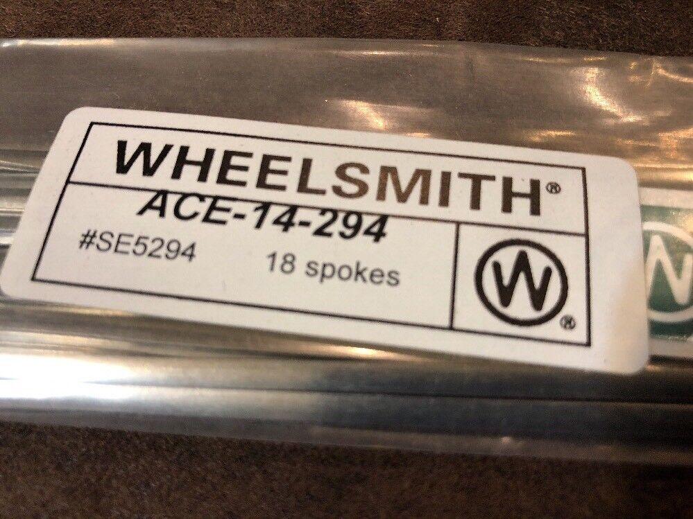 Nuevo Wheelsmith  ACE-14-294mm Hoja radios Bolsa De 18  protección post-venta